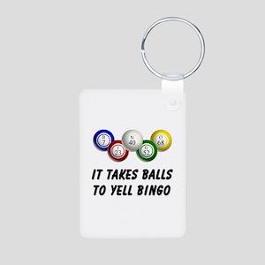 Balls to Bingo Aluminum Photo Keychain