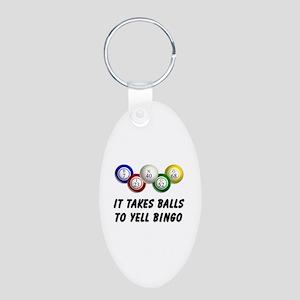 Balls to Bingo Aluminum Oval Keychain