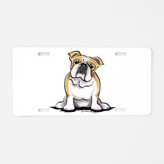 Cute English Bulldog Aluminum License Plate