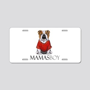 Mamas Boy Bulldog Aluminum License Plate