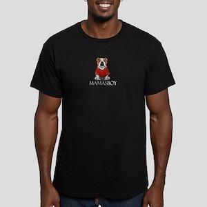 Mamas Boy Bulldog Men's Fitted T-Shirt (dark)