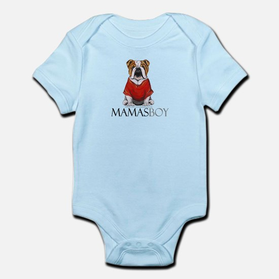 Mamas Boy Bulldog Infant Bodysuit