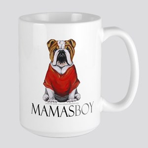 Mamas Boy Bulldog Large Mug