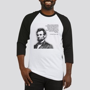 Abraham Lincoln Quote Baseball Jersey