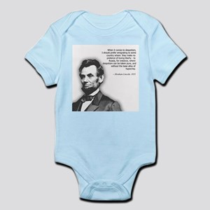Abraham Lincoln Quote Infant Bodysuit