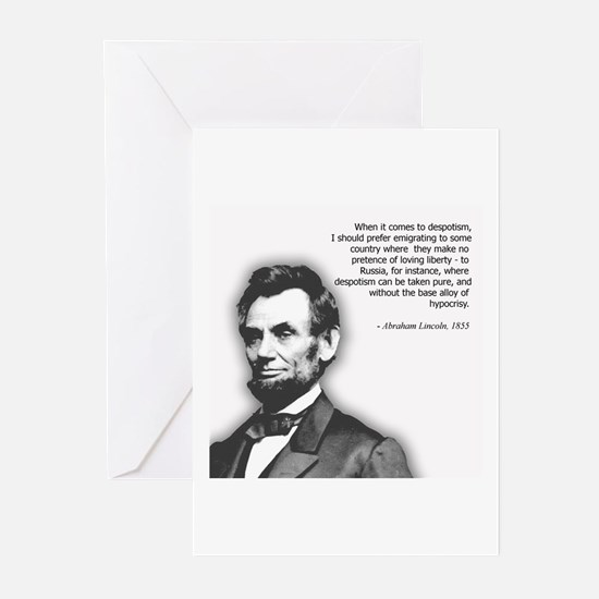 Abraham Lincoln Quote Greeting Cards (Pk of 10