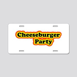 Cheeseburger Party Aluminum License Plate