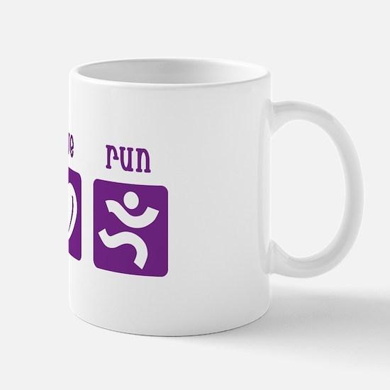 Peace/Love/Run Mug