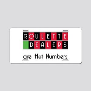 Roulette Dealers Aluminum License Plate