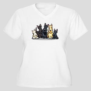 Scottie 5 Women's Plus Size V-Neck T-Shirt