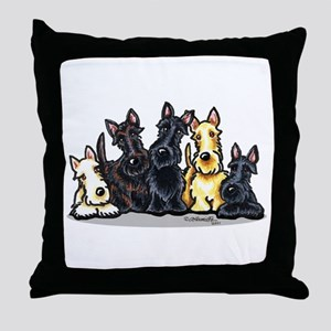 Scottie 5 Throw Pillow