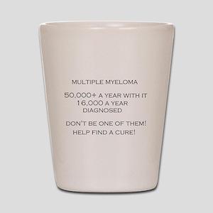 MM Find a Cure! Shot Glass