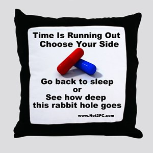 redbluepill Throw Pillow