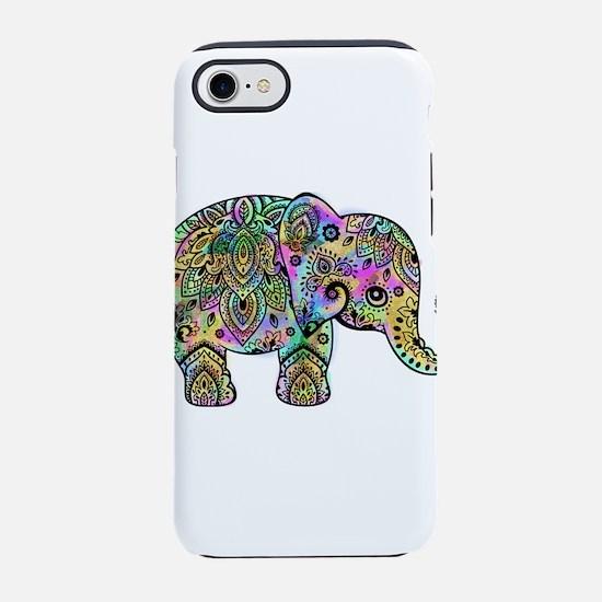 Colorful paisley Elephant iPhone 7 Tough Case