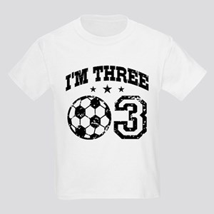 Three Year Old Soccer Kids Light T-Shirt