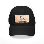 Chickadee on Birdhouse Black Cap with Patch