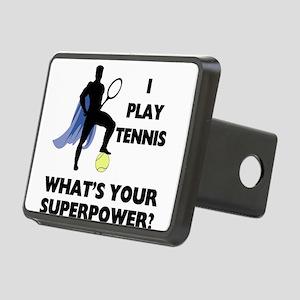 Tennis Superhero Rectangular Hitch Cover