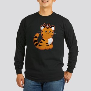 Tiger, Tiger Long Sleeve Dark T-Shirt