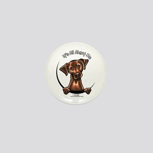 Chocolate Lab IAAM Mini Button
