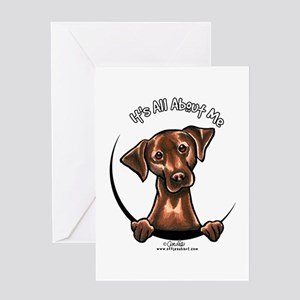 Chocolate Lab IAAM Greeting Card