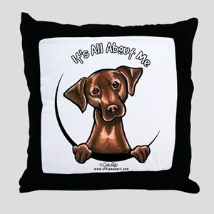 Chocolate Lab IAAM Throw Pillow