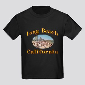 Vintage Long Beach Kids Dark T-Shirt
