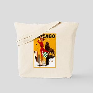 Vintage Chicago Travel Tote Bag
