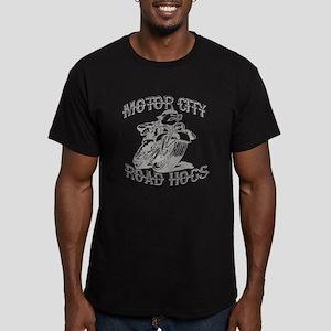 MOTOR CITY ROAD HOGS Men's Fitted T-Shirt (dark)