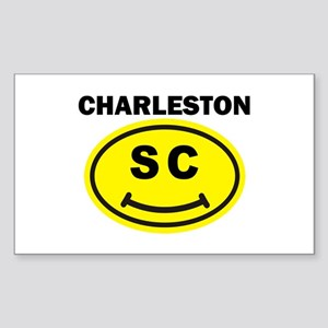 Charleston SC Smile(TM) Sticker (Rectangle)