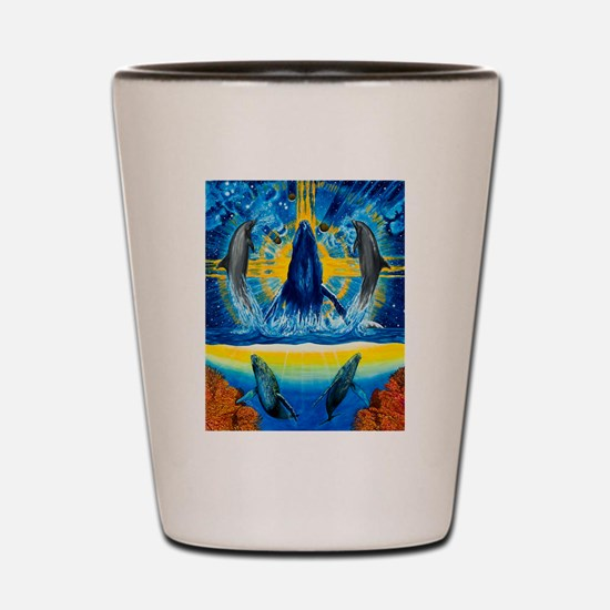 Peace in the Water Shot Glass
