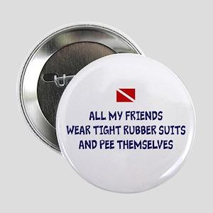 """Peeing Scuba Diver 2.25"""" Button"""