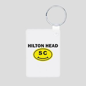 Hilton Head SC Smile(TM) Aluminum Photo Keychain