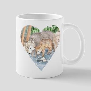 wolves at creek Mug
