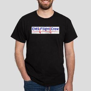 EMS Flight Crew - (same image front & back) Dark T