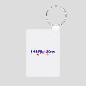 EMS Flight Crew - (same image front & back) Alumin
