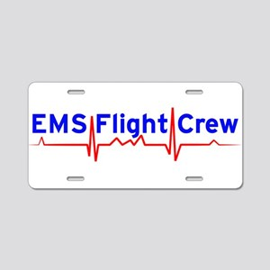 EMS Flight Crew - (same image front & back) Alumin