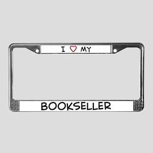 I Love Bookseller License Plate Frame