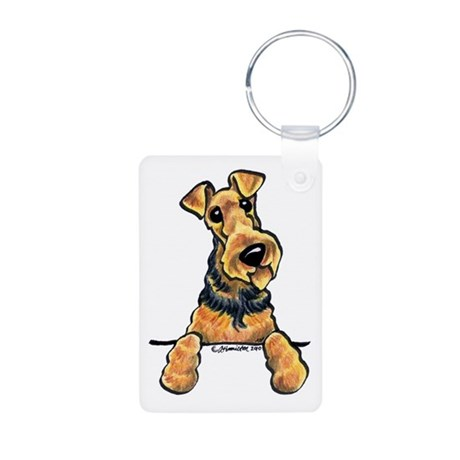Airedale Terrier Lover Aluminum Photo Keychain