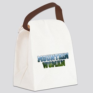 Mountain Woman Canvas Lunch Bag