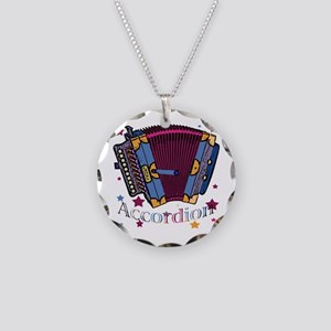 Accordion Necklace Circle Charm