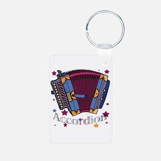 Accordion Aluminum Photo Keychain