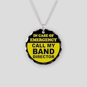 Band Emergency Necklace Circle Charm