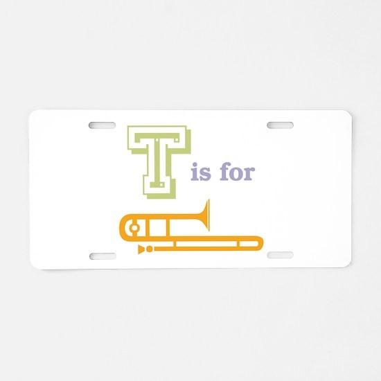 Tis for Trombone Aluminum License Plate