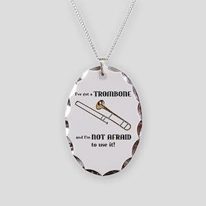 I've Got A Trombone Necklace Oval Charm
