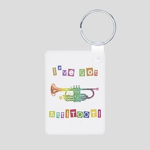 Trumpet Attitude Aluminum Photo Keychain
