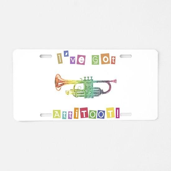 Trumpet Attitude Aluminum License Plate