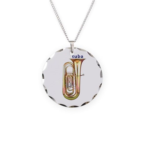 Tuba Necklace Circle Charm