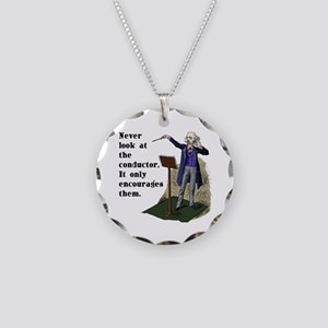 Conductor Necklace Circle Charm