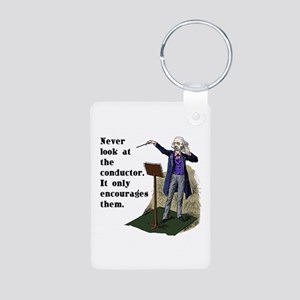 Conductor Aluminum Photo Keychain