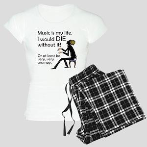 Music Is My Life Women's Light Pajamas